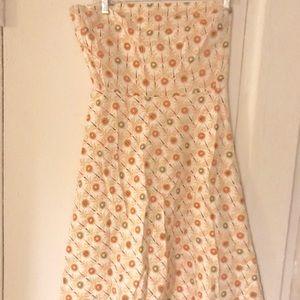 Beautiful J Crew strapless printed dress